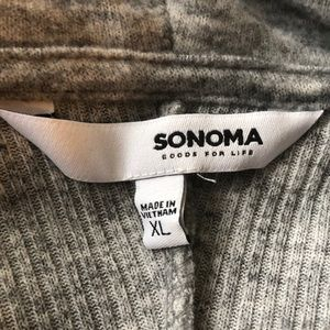 Sonoma Tops - Sonoma gray cowl neck tunic with front pocket